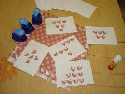 Výrobky z papíru - výroba přáníček